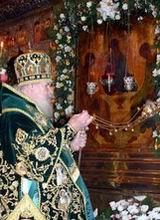 Патриарх в Троицком соборе Троице-Сергиевой Лавры