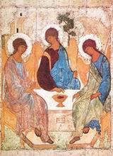 Икона Троицы, прп. Андрей Рублев